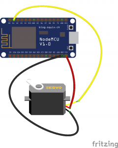 Connecting servo motor to NodeMCU